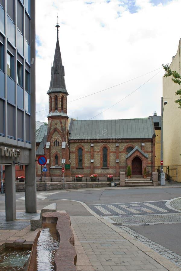Norge Oslo, kyrklig St Edmunds royaltyfri foto