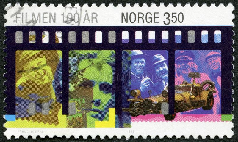 NORGE - 1996: shower Leif Juster, Sean Connery, Liv Ullmann, de Olsen ligafilmerna, II vikarier Gigante, århundradefilmer arkivbild