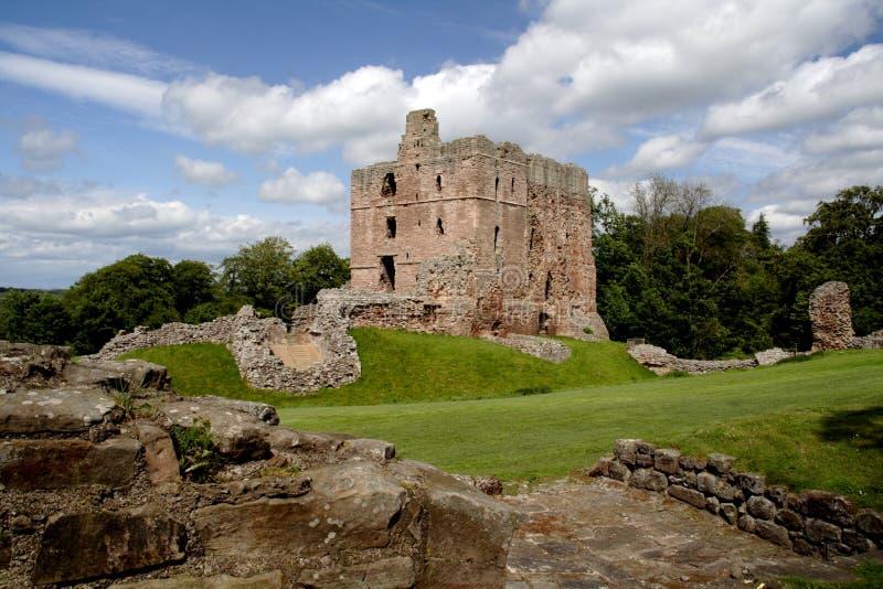 Norham Castle stock photo