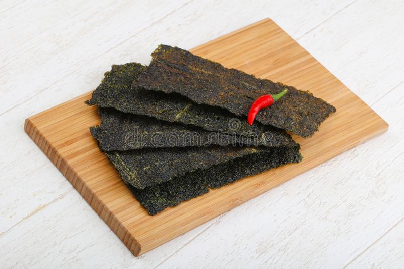 Nori seaweed sheets stock photography