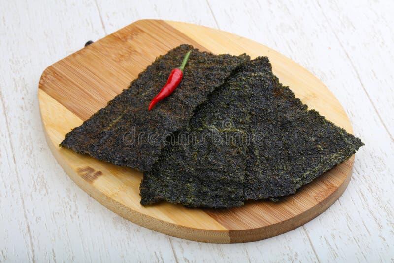 Nori seaweed sheets royalty free stock photos