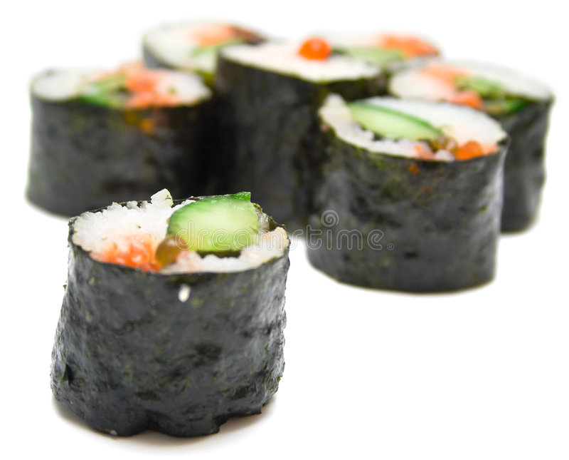 Nori van sushi op een wit royalty-vrije stock foto
