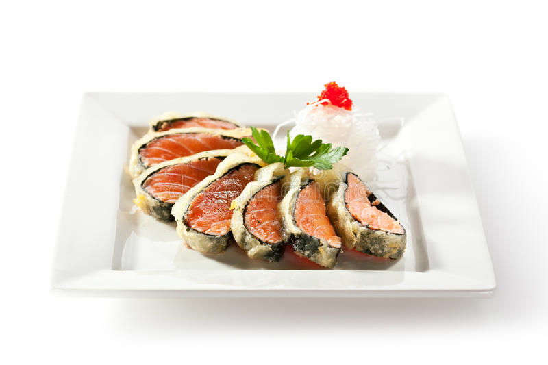 Nori Wrapped Salmon royaltyfri foto