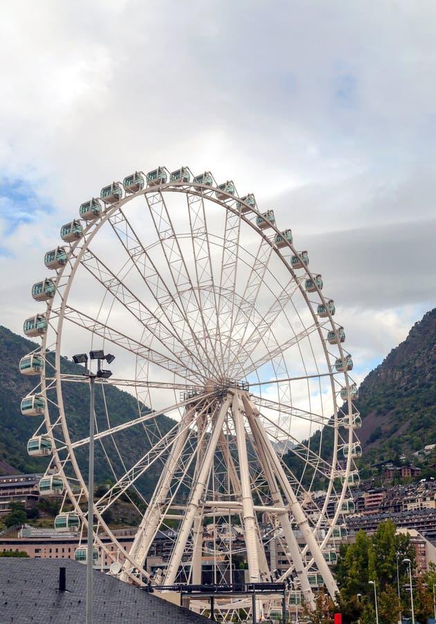 Noria in Andorra-La Bella lizenzfreie stockfotografie