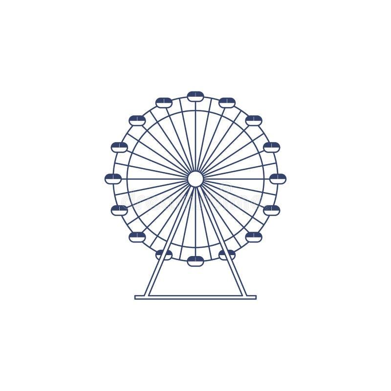 Noria del vector para colorear r ilustración del vector