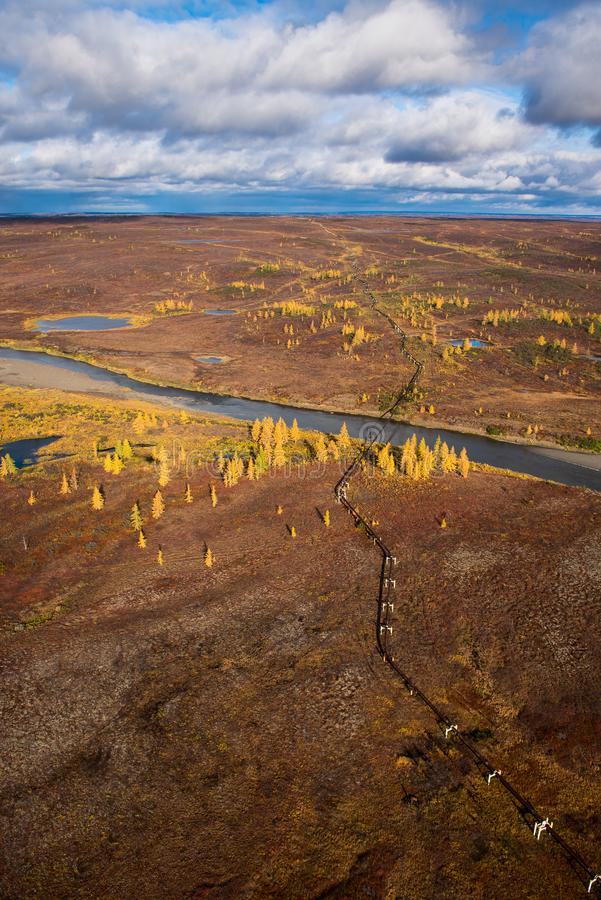 Norilsk, Russie Vue de la toundra d'automne photographie stock