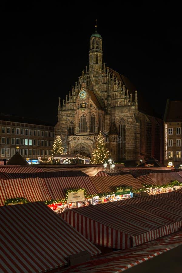 NORIMBERGA, GERMANIA - 7 dicembre 2017: Il mercato di Natale dentro fotografia stock libera da diritti