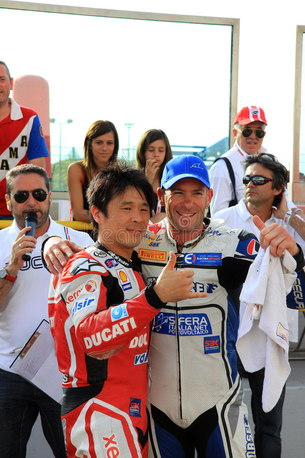 Noriyuki Haga and Regis Laconi WDW 2010 event stock image