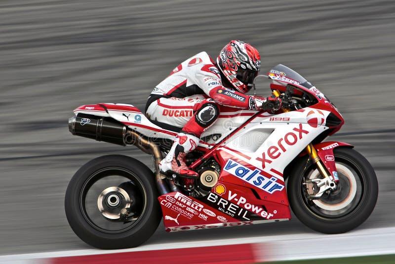 Noriyuki Haga SBK Ducati royalty free stock photography
