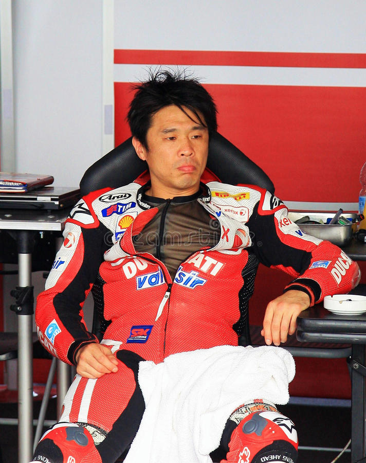 Noriyuki Haga at the World Ducati Week 2010 event royalty free stock photo