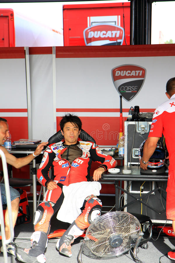 Noriyuki Haga at the World Ducati Week 2010 event stock photo