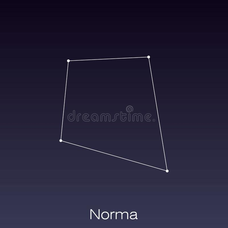 Constellation as it can be seen by the naked eye. Norma constellation as it can be seen by the naked eye royalty free illustration