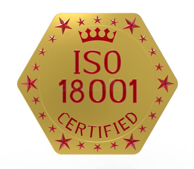 Norma ISO 18001 royalty ilustracja