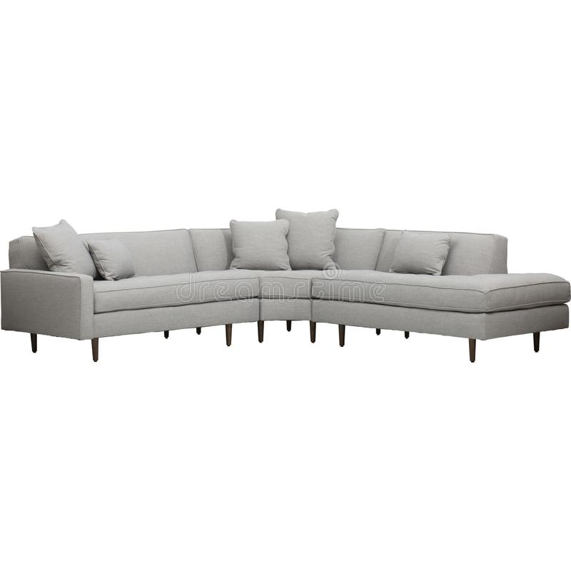 Normal de la chaise, divans sectionnels renversants avec l'obligation de Sofa Recliner And Chaise Lounge de Recliners image libre de droits