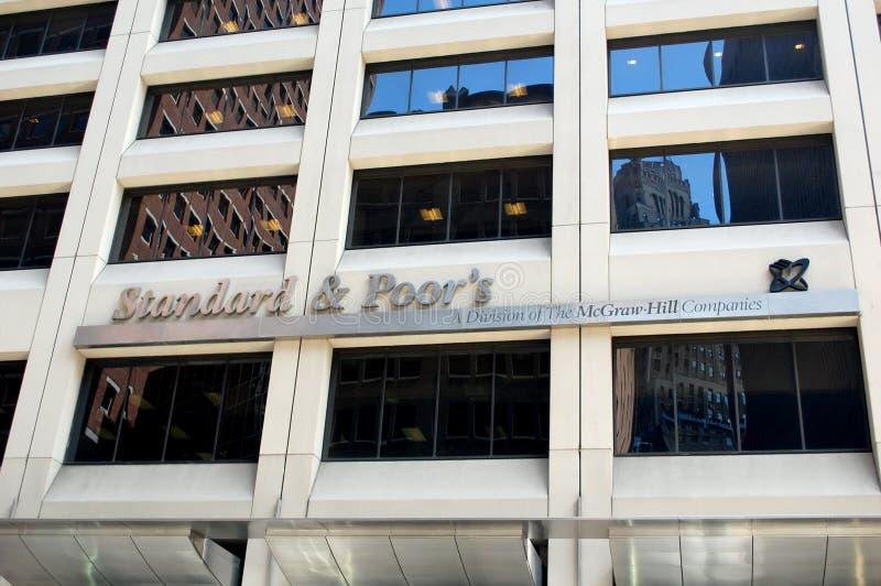 Normal et pauvres, S&P New York image libre de droits