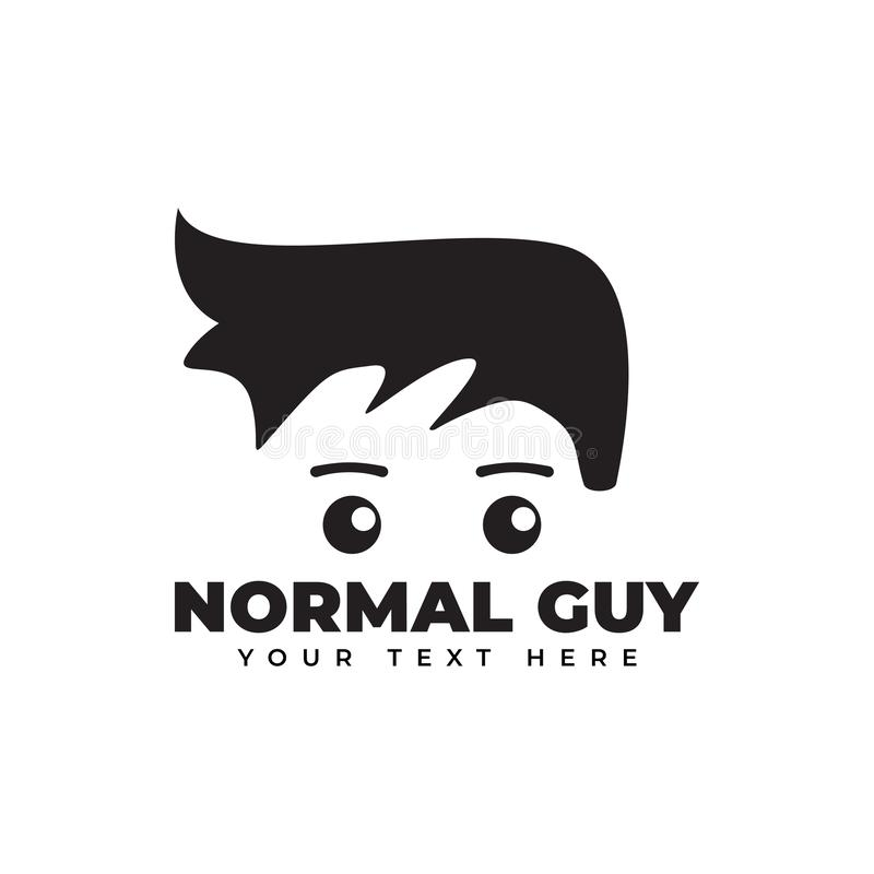 Normal guy graphic design template illustration isolated. Student, hipster, cartoon, game, smile, face, gamer, style, fashion, symbol, concept, icon, education vector illustration