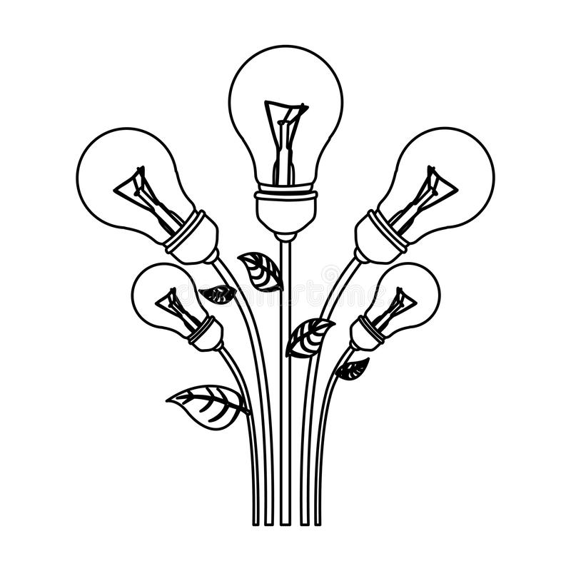 normal save bulbs plant icon royalty free illustration