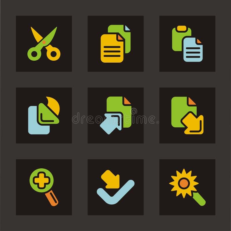 normal serie för färgsymbolssymboler vektor illustrationer