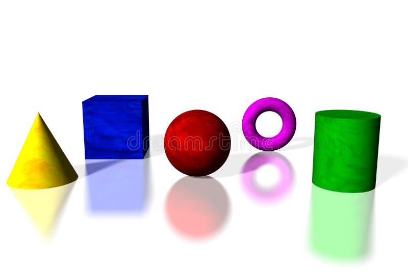 normala former vektor illustrationer