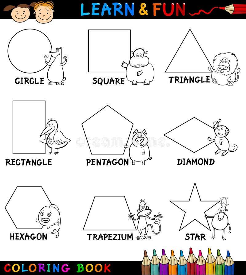 Normala former med djur för färgläggning stock illustrationer