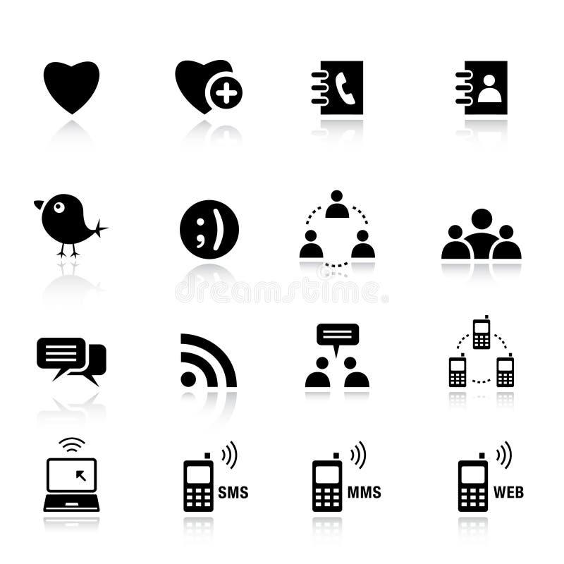 normala sociala symbolsmedel royaltyfri illustrationer