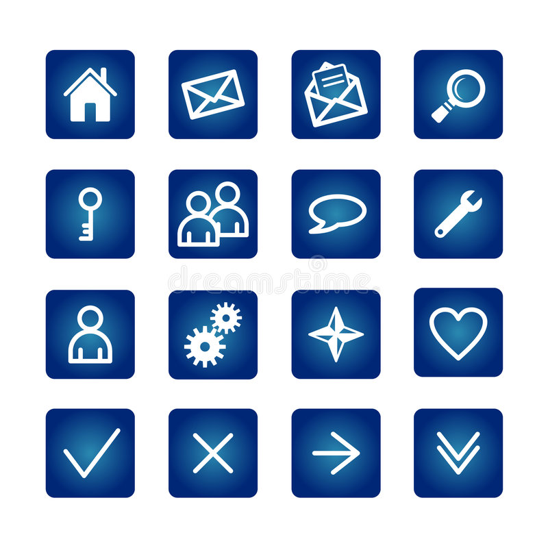 normala symboler ställde in rengöringsduk royaltyfri illustrationer
