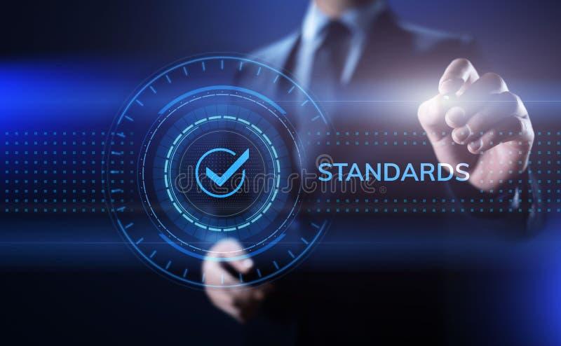Normalización del control de la garantía de calidad de los estándares y concepto de la certificación imagenes de archivo