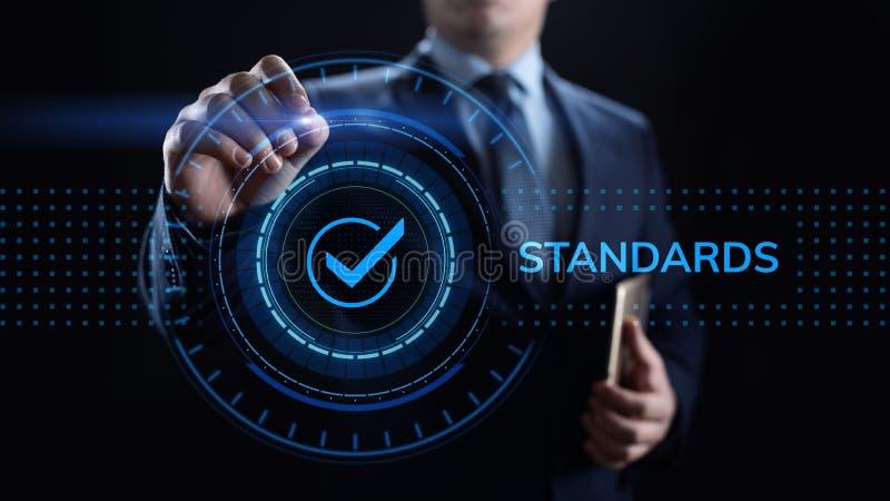Normalización del control de la garantía de calidad de los estándares y concepto de la certificación foto de archivo
