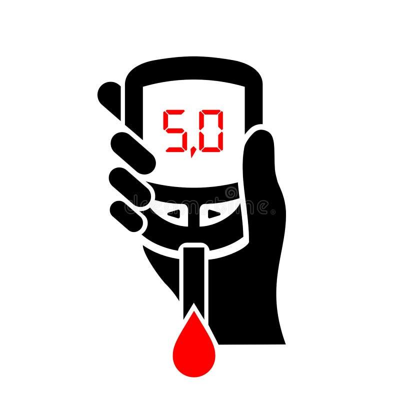 Normalny cukier równy w krwionośnej ikonie royalty ilustracja