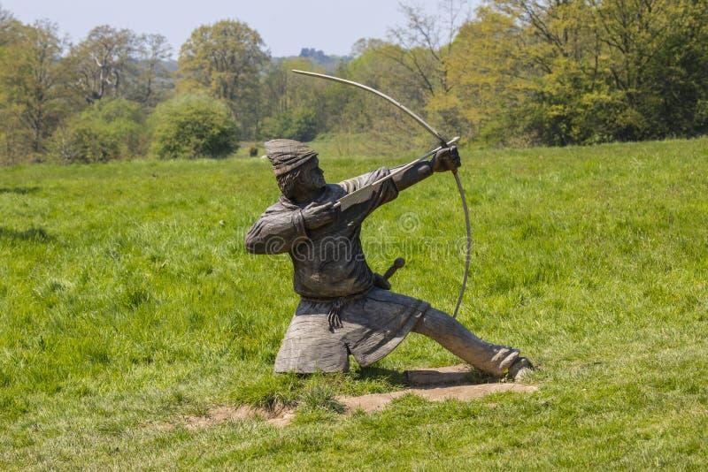 Norman Archer Sculpture på stridabbotskloster arkivfoton