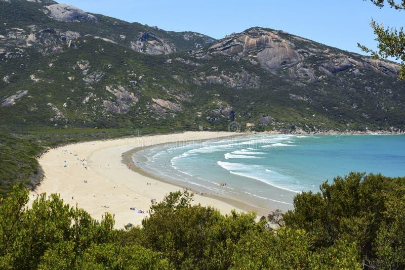 Norman Bay strand i Wilsons uddenationalpark royaltyfri foto