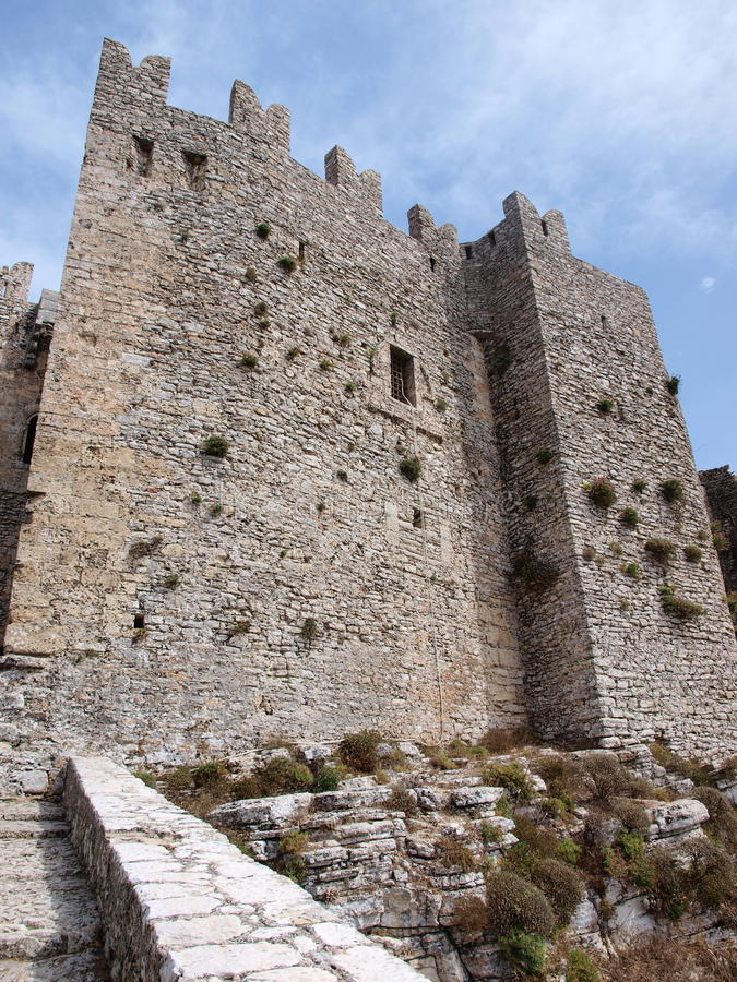 Norman castle, Erice, Sicily, Italy stock image