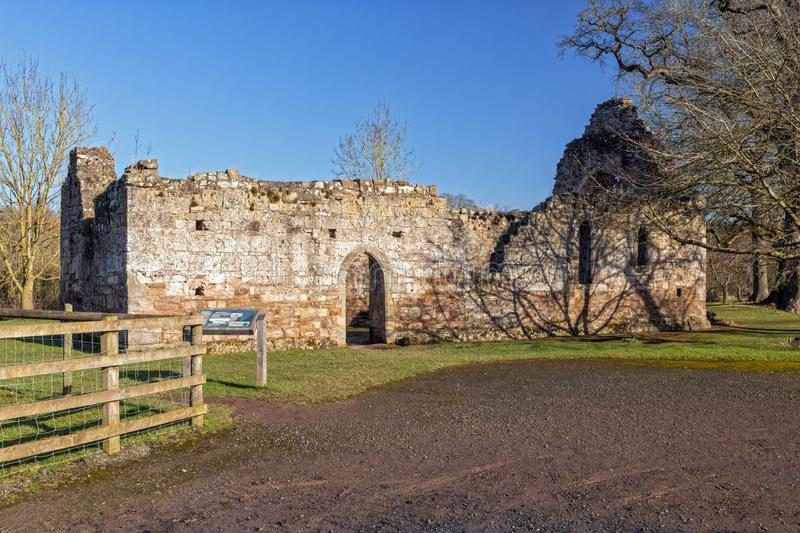 Norman Chapel, proprietà terriera di Brockhampton, Herefordshire, Inghilterra immagine stock