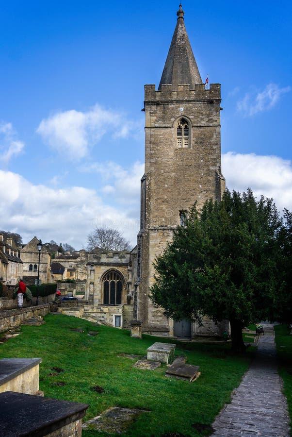 Norman Holy Trinity Church in Bradford op Avon, Wiltshire, het UK royalty-vrije stock fotografie