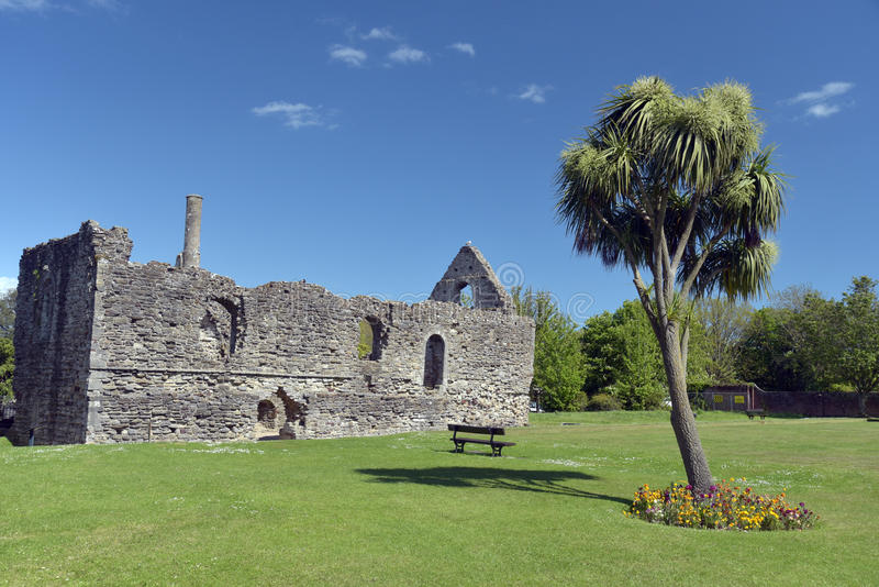 Norman House i Christchurch royaltyfria foton
