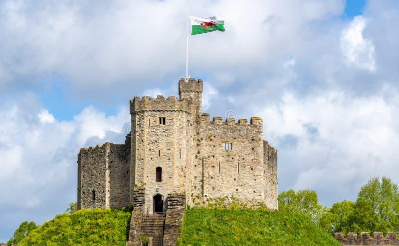 Norman Keep av den Cardiff slotten arkivfoton