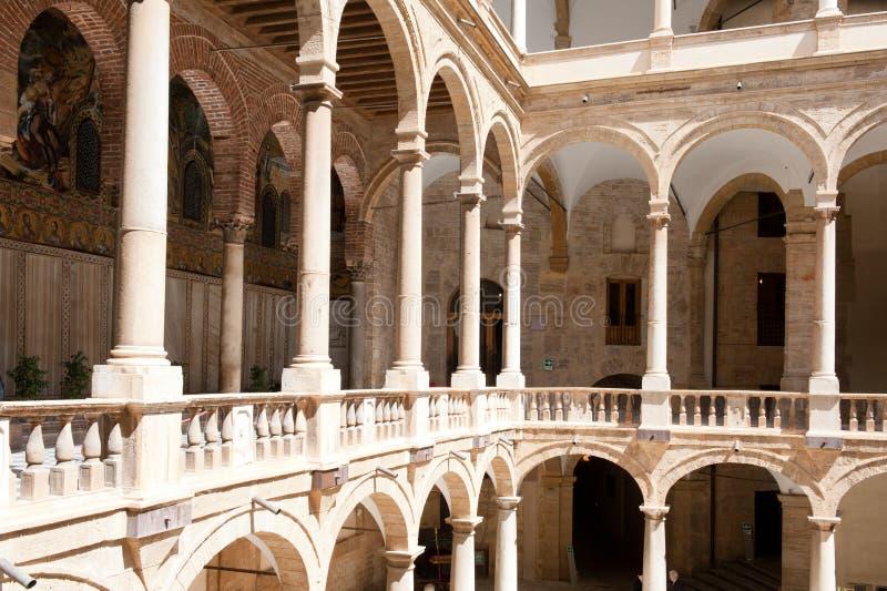 Norman Palace - Palermo foto de archivo