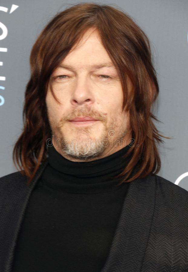 Norman Reedus. At the 23rd Annual Critics` Choice Awards held at the Barker Hangar in Santa Monica, USA on January 11, 2018 royalty free stock photo