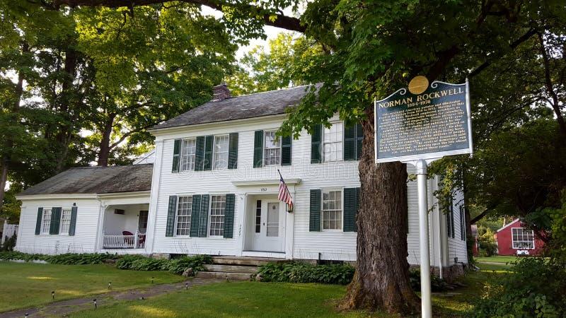 Norman Rockwell Home Arlington Vermont royaltyfria bilder