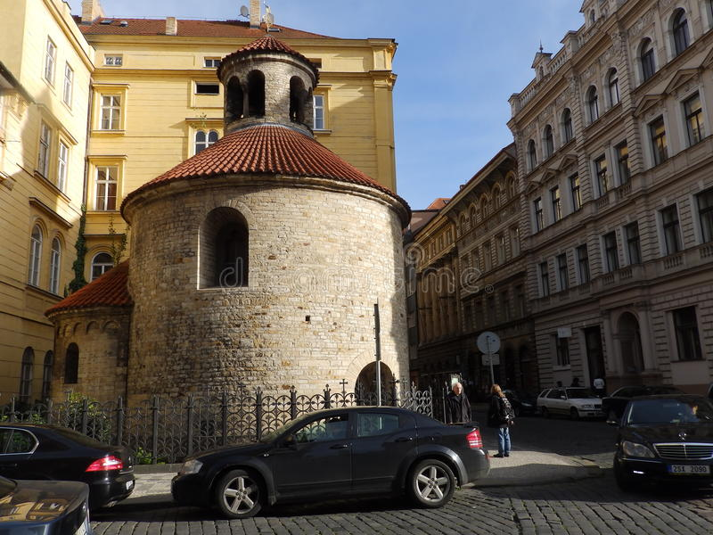 Norman Round Church, Prague images libres de droits