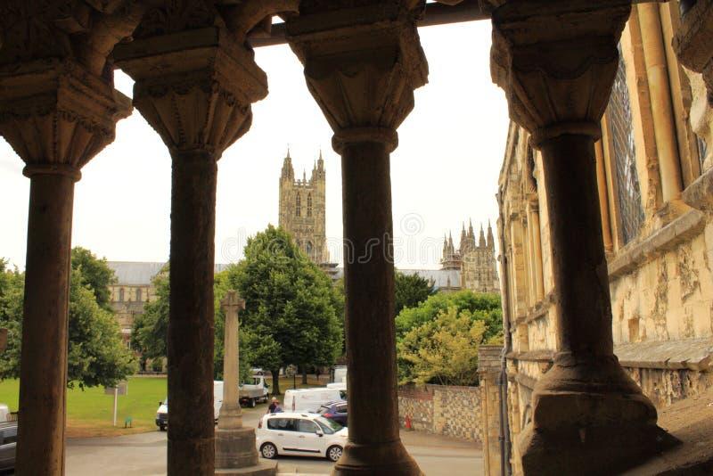 Norman Staircase Canterbury Cathedral Uk foto de archivo libre de regalías