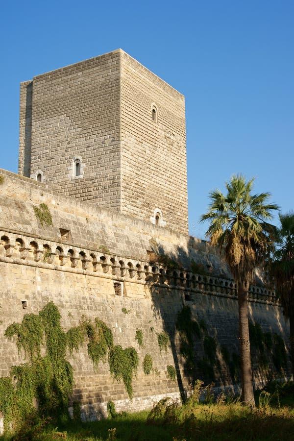 Norman-Swabian Castle of Bari, Apulia royalty free stock photo