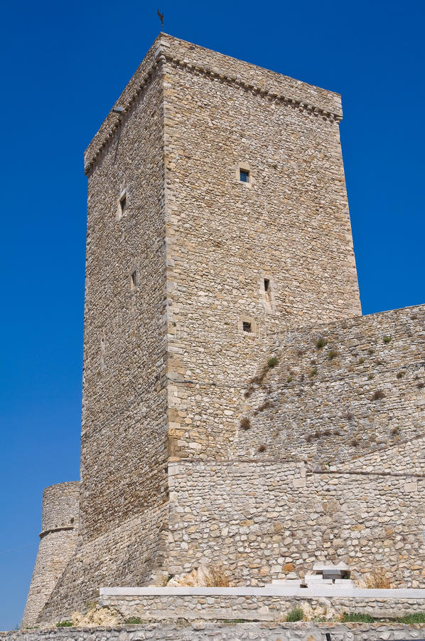 Norman swabian castle of Deliceto. Puglia. Italy. Perspective of the Norman swabian castle of Deliceto. Puglia. Italy stock photos