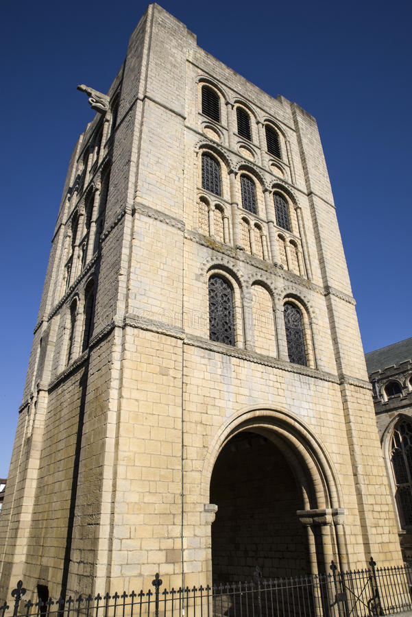 The Norman Tower in Bury St. Edmunds. A view of the historic Norman Tower in Bury St. Edmunds, Suffolk stock image