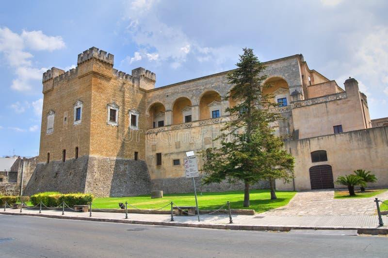 Normand-Swabian slott. Mesagne. Puglia. Italien. arkivfoto