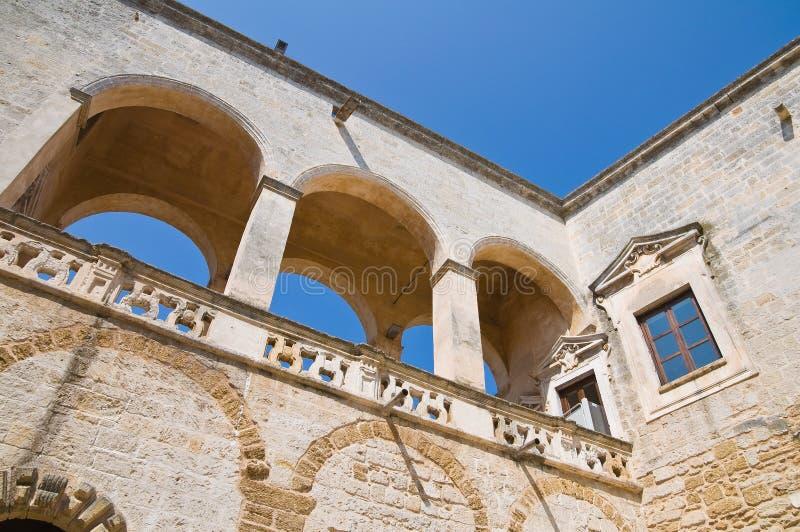 Normand-Swabian slott. Mesagne. Puglia. Italien. arkivfoton