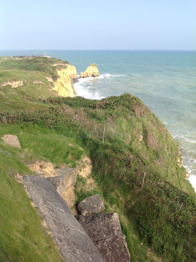 Normandië - het strand van Dagd stock afbeelding