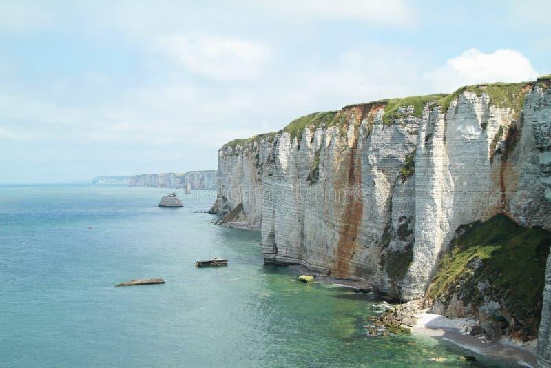 Normandia礁石  库存图片