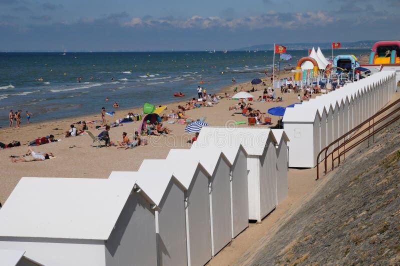 Normandie, η παραλία Cabourg το καλοκαίρι στοκ φωτογραφίες με δικαίωμα ελεύθερης χρήσης