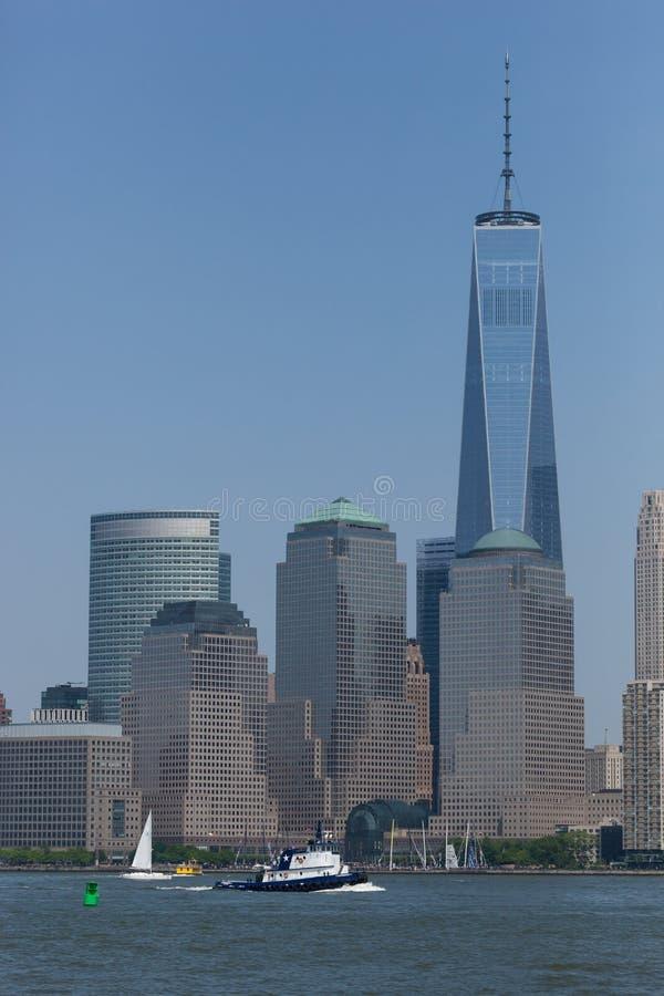 Normandie bogserbåt vid World Trade Center royaltyfria foton